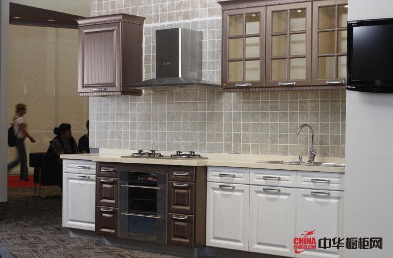 现代与复古融合的混搭式风格 简约设计的一字型橱柜装修图片 小户型厨房装修不二选择