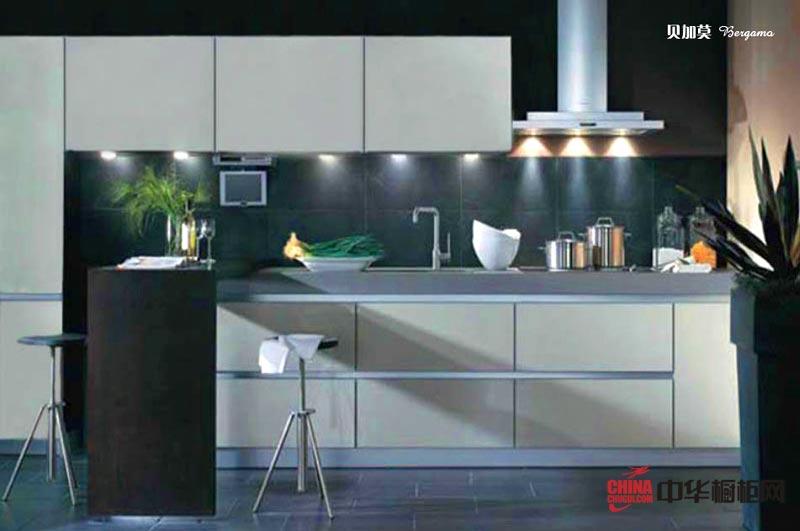 一字型厨房装修效果图大全欣赏 简约风格整体橱柜装修图片展示小厨房装修的经典