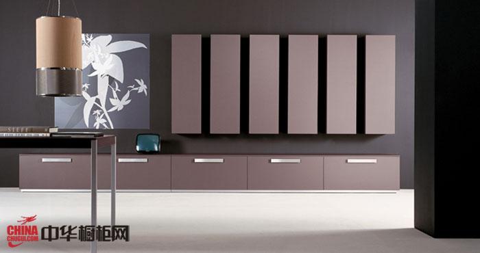 咖啡色創意廚房裝修效果欣賞 啞光烤漆櫥柜設計效果圖