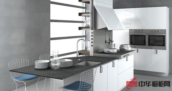 后现代主义风格整体橱柜设计效果图 最新厨房装修效果图大全2012图片欣赏 打造开放式小厨房装修