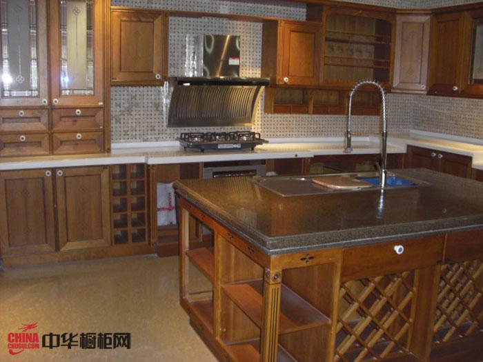 古典风格厨房装修效果图——hanex人造石台面