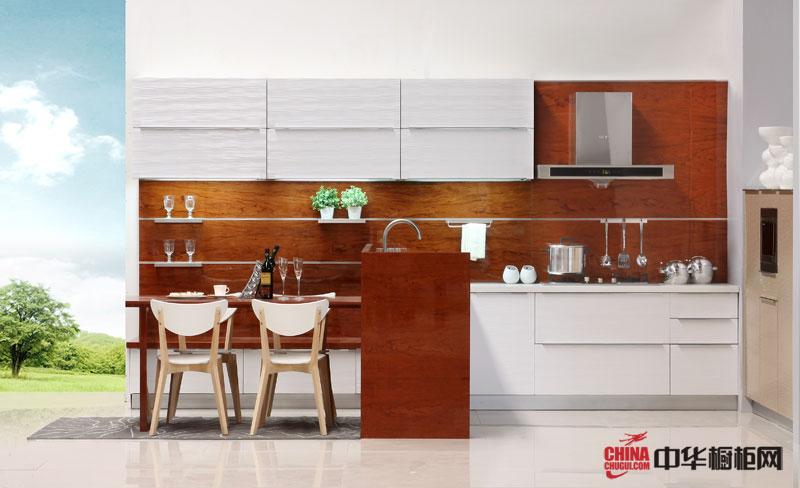 似水年华——简约风格整体橱柜装修图片 木质田园风格一字型小厨房装修效果图大全