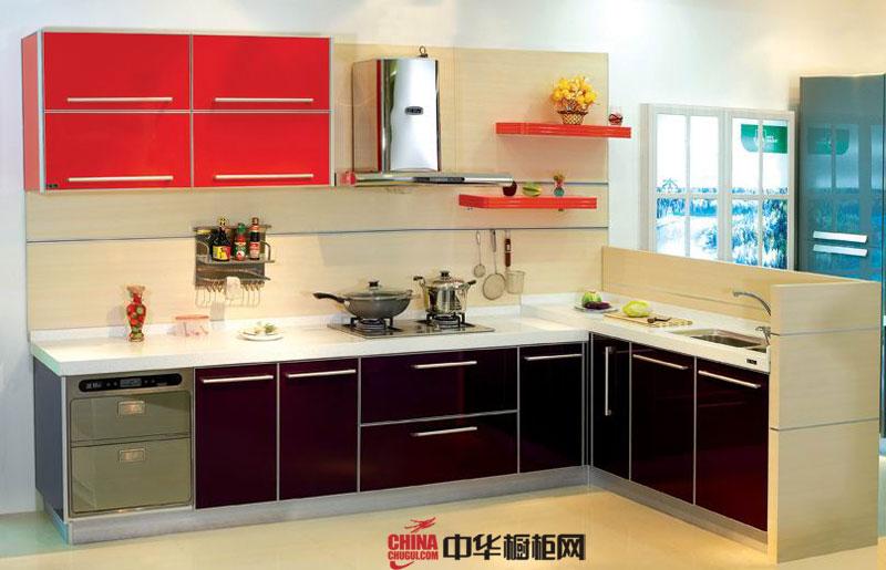 小户型厨房装修设计效果图 简约风格整体橱柜装修图片欣赏