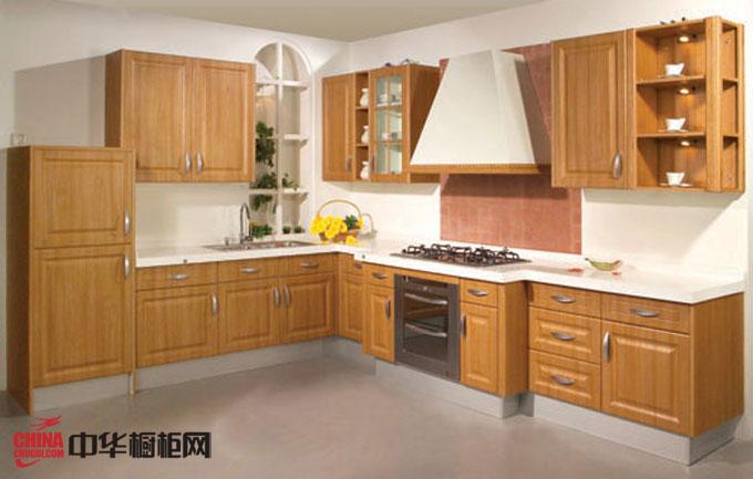 古典风格厨房装修效果图 实木橱柜图片欣赏