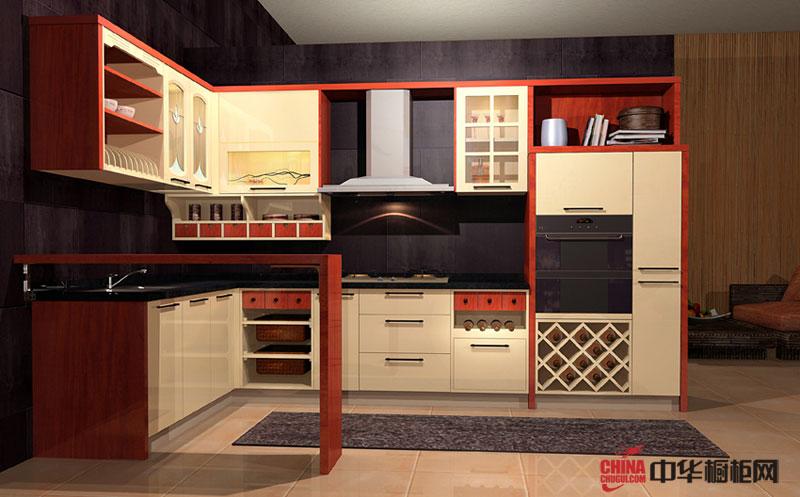 田园风格橱柜装修图片 实木橱柜图片 开放式厨房装修效果图大全2012图片