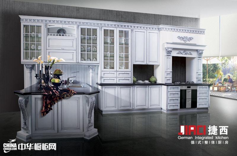 捷西橱柜佛罗伦萨——实木橱柜图片 白色厨房装修效果图大全2012图片