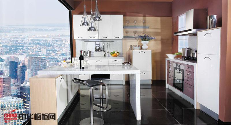 向日葵好兆头橱柜——小户型厨房装修效果图大全2012图片 整体橱柜