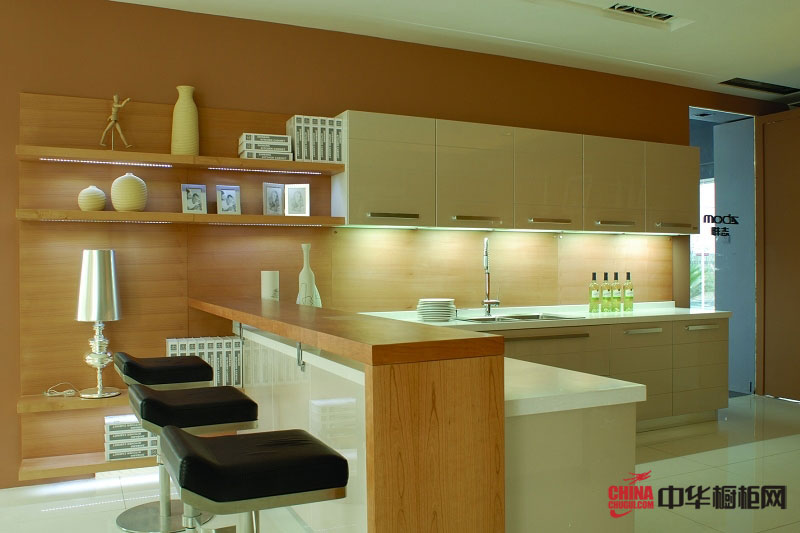 志邦橱柜图片 简约风格厨房装修效果图
