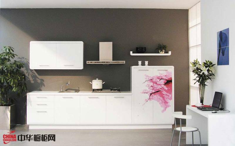 隆森2012最新款整体橱柜图片——一字型小厨房装修效果图大全2012图片 简约风格橱柜设计效果图欣赏