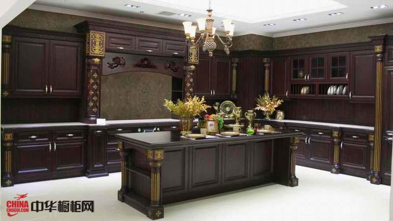 实木橱柜图片 古典风格厨房装修效果图大全2012图片