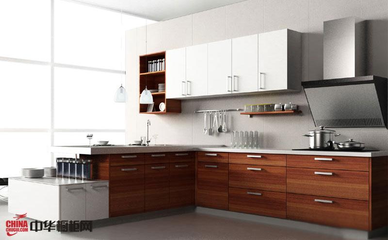 简约风格厨房装修效果图2012图片 实木橱柜图片