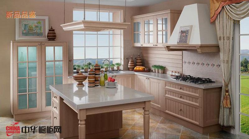 欧派橱柜图片——英郡年华 田园风格厨房装修效果图大全2012图片 实木整体橱柜图片欣赏