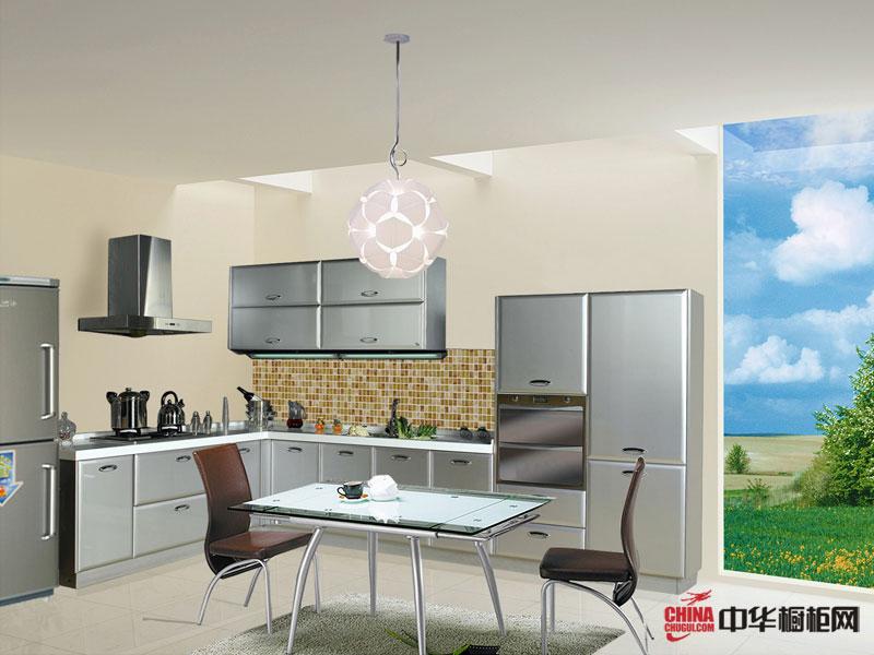 雅泰橱柜星际水银——烤漆橱柜图片 L型厨房装修效果图大全2012图片