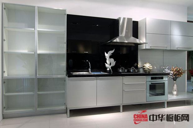 2012最新款不锈钢整体橱柜图片|整体橱柜图片 白色简约风格厨房装修效果图展示现代厨房橱柜图片的钢铁气氛