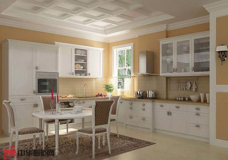 天使之翼——欧式橱柜图片 实木橱柜图片 厨房装修效果图大全2012图片展示朦胧而温馨的欧式情调