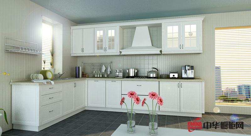 大自然温莎堡橱柜图片柏美洛——白色实木橱柜图片 田园风格厨房装修效果图诠释乡野的休闲生活