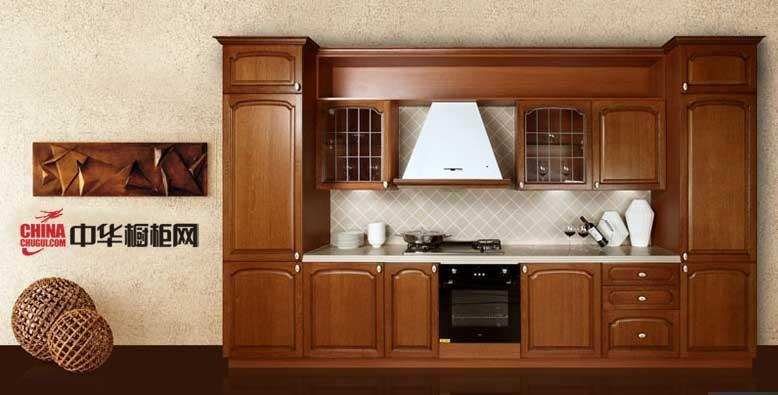 欧式古典风格整体实木橱柜图片