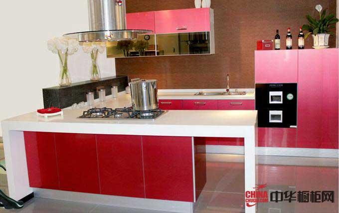 2012最新款整体橱柜图片——红色烤漆橱柜图片 简约风格厨房装修效果图大全2012图片