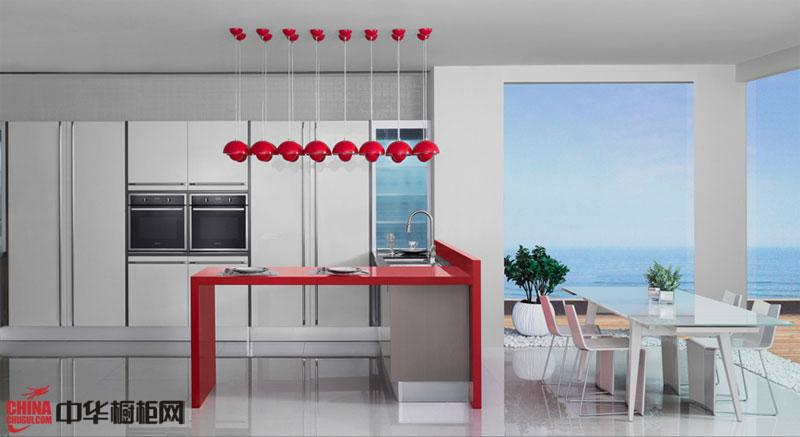 欧派橱柜效果图片 红色之恋——2012年整体橱柜图片 简约风格厨房装修效果图大全2012图片