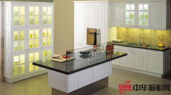 开放式厨房装修效果图 2012年最新款整体橱柜图片欣赏