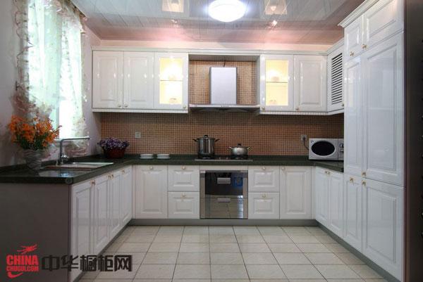 白色系列实木整体橱柜图片 简欧风格厨房装修效果图大全2012图片欣赏