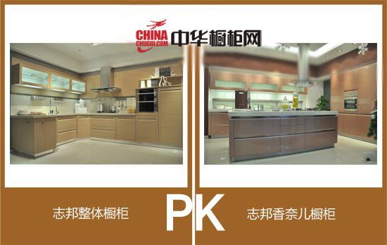 橱柜评测:志邦橱柜打造时尚厨房 两款定制橱柜pk