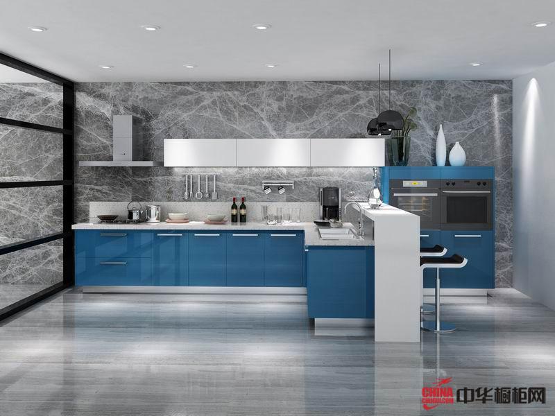 容声橱柜图片托斯卡纳tuscany——蓝色烤漆橱柜图片 不锈钢橱柜装修效果图欣赏 开放式厨房装修效果图大全2012图片