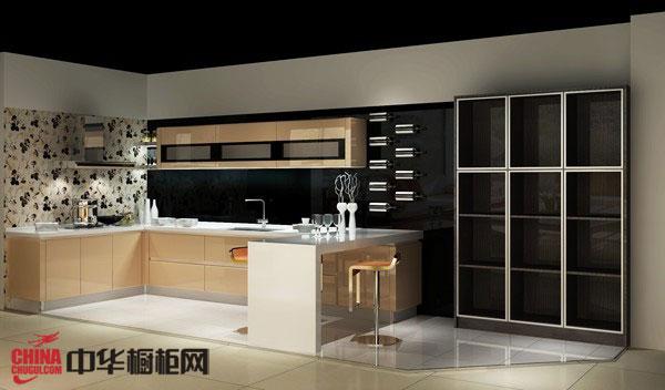 橱柜图片——香槟色烤漆整体橱柜图片 2012年整体橱柜装修效果图欣赏