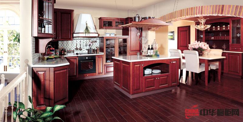 好兆头橱柜图片——卡米拉 古典风格橱柜图片 实木整体橱柜图片欣赏