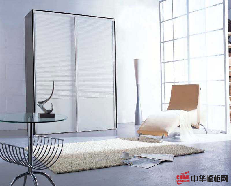 白色整体衣柜图片——安达卢西亚 简约风格衣柜图片尽享纯净之唯美