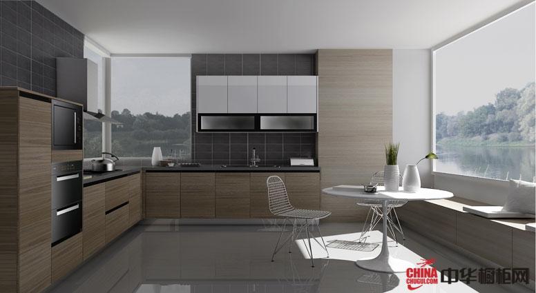 简约风格橱柜装修效果图 l型整体橱柜图片 开放式厨房