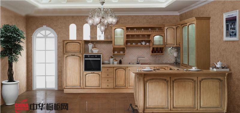 欧派橱柜图片卢森堡——欧式古典风格整体橱柜图片 实木橱柜图片给人一种清新怀旧的感觉