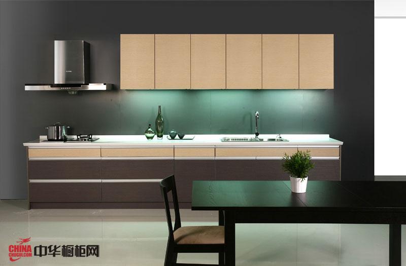 小户型厨房装修效果图 一字型橱柜图片 简约风格整体橱柜效果图欣赏