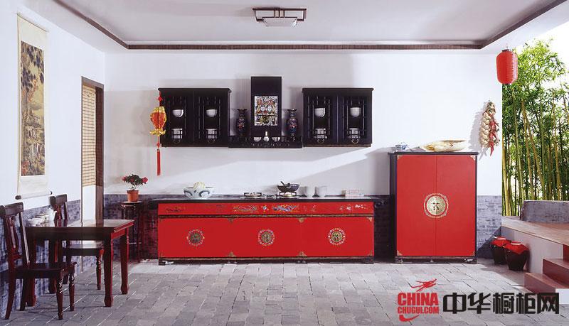 新古典风格整体橱柜效果图 实木橱柜图片打造中国风味的厨房装修设计