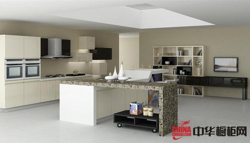 简欧风格整体橱柜效果图 白色系烤漆橱柜图片 整体橱柜装修效果图欣赏