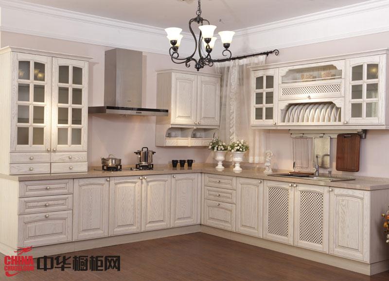 欧式古典风格正华橱柜——实木橱柜图片 白色系列整体橱柜效果图