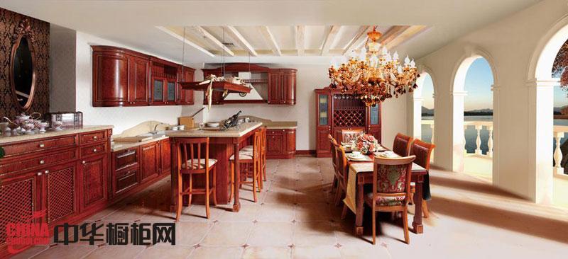 惠尔邦橱柜图片 Crystal——古典风格整体橱柜效果图 实木橱柜图片展示高雅尊贵
