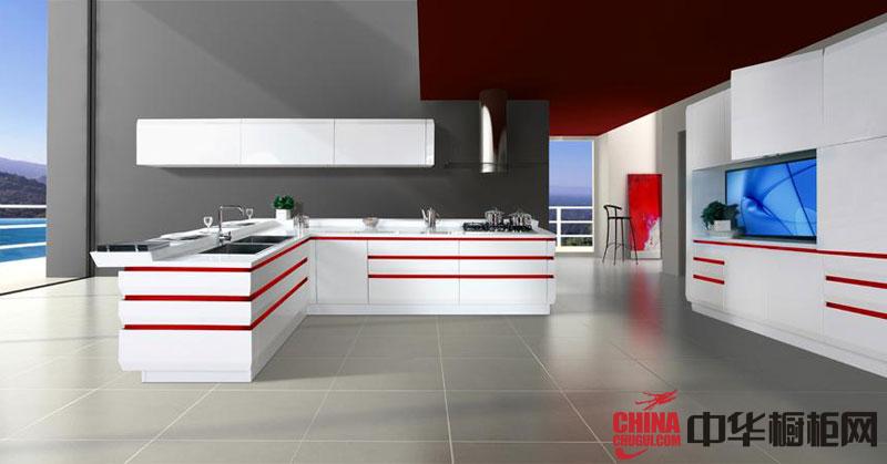 2012年惠尔邦橱柜图片Ikitchen L型整体橱柜效果图 白色烤漆橱柜图片欣赏