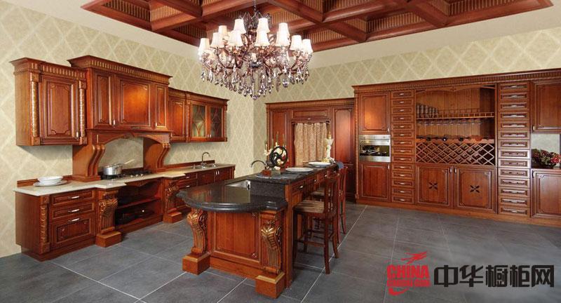 2012年惠尔邦整体橱柜图片 樱桃心情-古典风格整体橱柜效果图 实木橱柜图片展示欧洲贵族风格