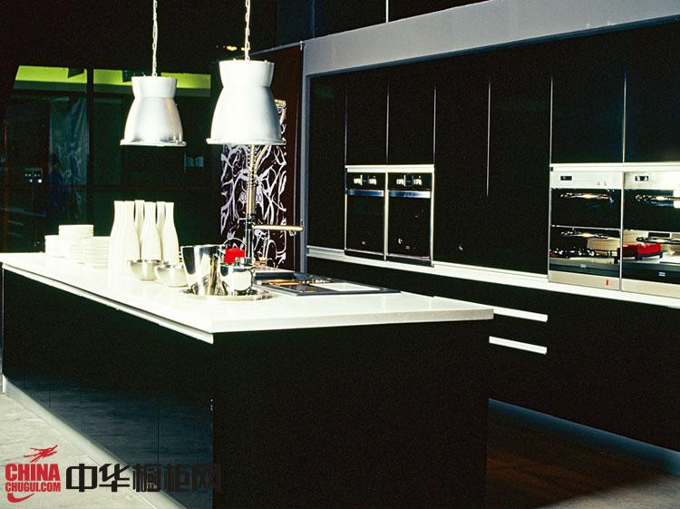 黑色烤漆橱柜图片 正华厨柜图片|整体橱柜效果图
