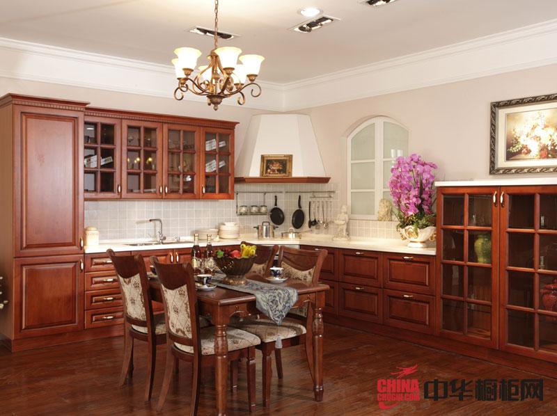 古典风格整体橱柜效果图|正华厨柜效果图|实木橱柜效果图欣赏