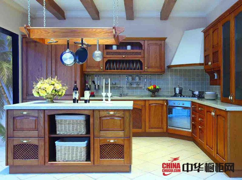 实木橱柜图片 古典风格正华厨柜整体橱柜效果图
