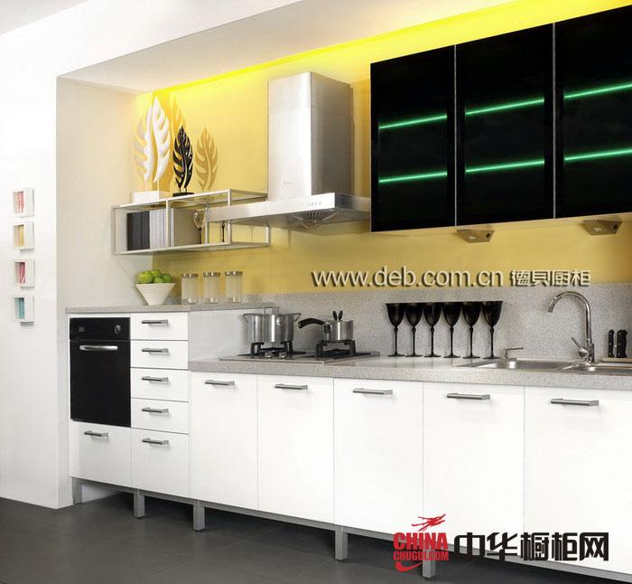 白色烤漆橱柜图片 德贝橱柜图片-苏黎世 现代简约风格整体橱柜设计效果图