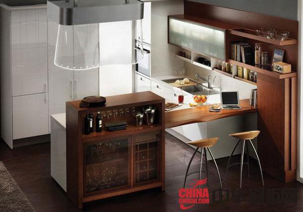2012年最新款汉森橱柜图片 田园风格整体橱柜效果图