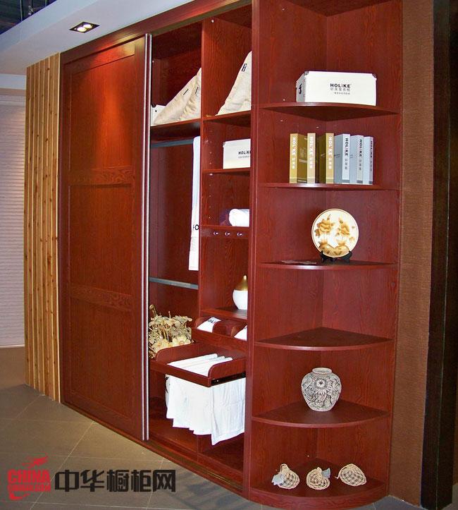 好萊客衣柜圖片-至尊紅 中式衣柜效果圖欣賞