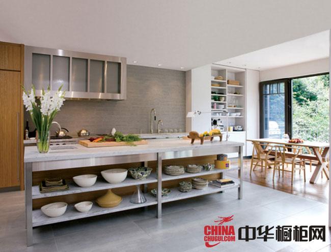 最新款简约风格整体橱柜图片 白色烤漆橱柜效果图展示