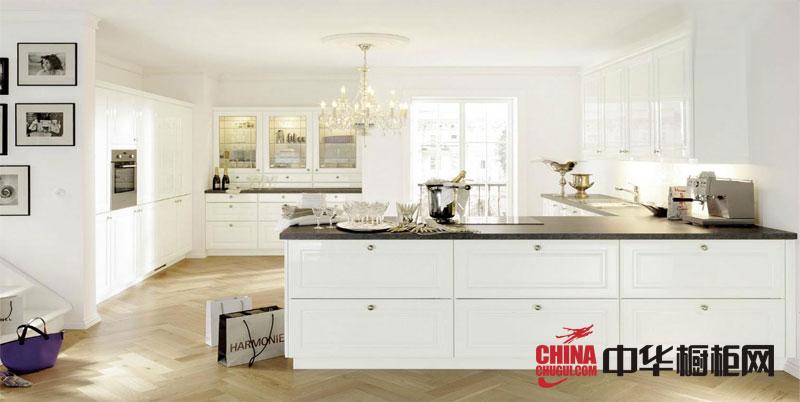 简欧风格整体橱柜效果图-白色烤漆橱柜图片-2012年最新款橱柜图片