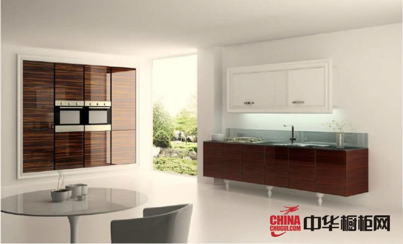 欧式田园风格整体橱柜图片-橱柜装修效果图-开放式厨房装修效果图欣赏