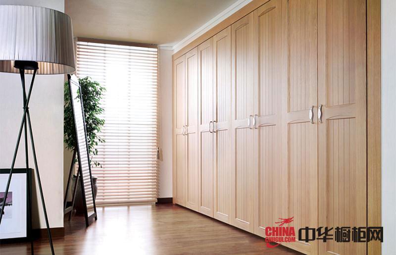 田园风格冠达星布衣柜图片-实木衣柜效果图-卧室衣柜装修效果图展示