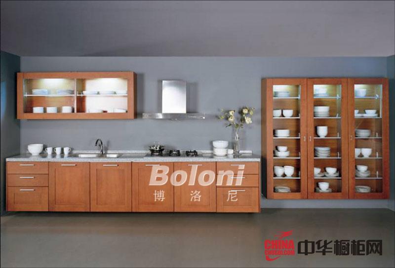 乡村风格整体橱柜效果图-博洛尼橱柜图片实木橱柜图片-开放式厨房装修效果图展示